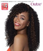 Outre Braid - X-PRESSION BRAID 4 IN 1 LOOP BAHAMAS CURL 14  Synthetic Braid