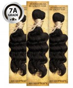 Top Hair Design  - BRAZILIAN 100% Virgin Human Hair DEEP WAVY 3 PC(NATURAL COLOR) -  7A (105 Gram each, 3 bundle with free closure-$19.99 value)