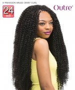 Outre Braid - X-PRESSION BRAID JERRY CURL 24  Synthetic Braid