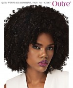Outre QUIK WEAVE BIG BEAUTIFUL HAIR  4A-KINKY  Synthetic Half Wig