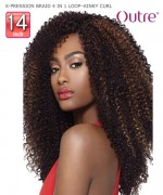 Outre Braid - X-PRESSION BRAID 4 IN 1 LOOP KINKY CURL 14  Synthetic Braid
