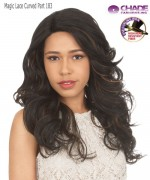 New Born Free Synthetic Lace Front Wig - MAGIC LACE CURVED PART MLC183