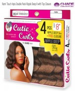 New Born Free Weave extention - Remi Touch 4pcs Double Pack-Ripple Deep 8 with Top Closure  Human Hair Blend Weave extention