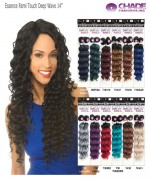 New Born Free Weave extention - Essence Remi Touch Deep Wave 14  Human Hair Blend Weave extention