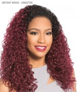 Sensationnel 100% PREMIUM FIBER Synthetic Half Wig - INSTANT WEAVE - KINGSTON