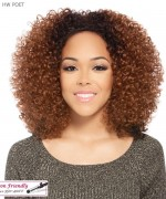 It's a wig Synthetic  Half Wig - HW POET