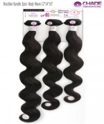 New Born Free Remi Human Hair Weave extention - Brazilian Bundle 3pcs- Body Wave 121416