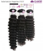 New Born Free Weave extention - Brazilian Bundle 3pcs- Pineapple Wave 14