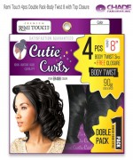 New Born Free Weave extention - Remi Touch 4pcs Double Pack-Body Twist 8 with Top Closure  Human Hair Blend Weave extention