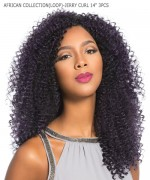 Sensationnel SNAP 3X Synthetic Hair Piece - AFRICAN COLLECTION(LOOP BRAID)-JERRY CURL 14 3PCS