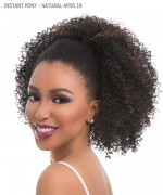 Sensationnel 100% PREMIUM FIBER Synthetic Hair Piece - INSTANT PONY - NATURAL AFRO 18