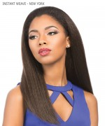 Sensationnel 100% PREMIUM FIBER Synthetic Half Wig - INSTANT WEAVE -NEW YORK