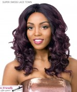 It's a wig Synthetic  Lace Front - SUPER SWISS LACE TOWN