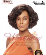Vanessa Human Hair Blend Lace Front Wig- HONEY C TETIA