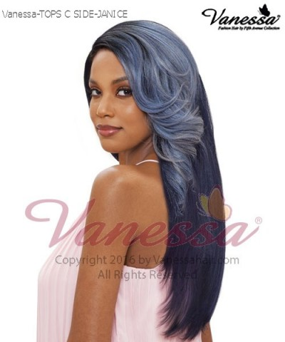 Vanessa Synthetic Lace Front Wig - TOPS C SIDE JANICE