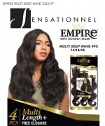 "Sensationnel 3 pcs + closure Human Hair Weave Extention - EMPIRE MULTI BODY WAVE 14""16""18"""