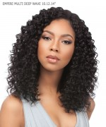 "Sensationnel 3 pcs + closure Human Hair Weave Extention - EMPIRE MULTI DEEP WAVE 10""12""14"""
