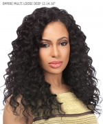 "Sensationnel 3 pcs + closure Human Hair Weave Extention - EMPIRE MULTI LOOSE DEEP 12""14""16"""