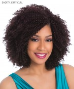 Sensationnel  Human Hair Blend Weave Extention - PREMIUM TOO SHORTY JERRY CURL 3PCS 9""