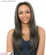 It's a wig Synthetic  Half Wig - HW AW LONDON GIRL