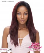 It's a wig Human Hair Blend   Lace Front - 360 LACE ENDLESS