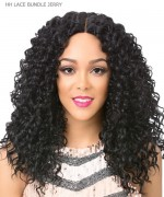 It's a wig Human Hair Blend QUALITY WIG Lace Front - HH LACE BUNDLE JERRY