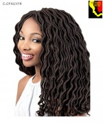 Motown Tress Braid C.CFAUX18  - Synthetic Crochet Featherlite Pre-Loop Curlfaux  Loc  Braid