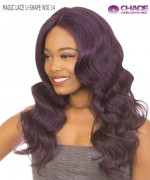 New Born Free Synthetic Lace Front Wig - MAGIC LACE U-SHAPE WIG 14 (with Silk Base)