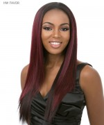 It's a wig Synthetic  Half Wig - HW FAVOR
