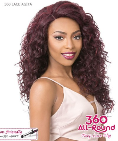 It's a wig Human Hair Blend   Lace Front - 360 LACE DEEP AGITA