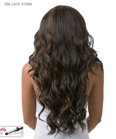 It's a wig Human Hair Blend   Lace Front - 360 LACE DEEP STANA