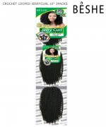 Beshe Synthetic Braid - CJC.3X10 Crochet Looped Jerrycurl 10 3 Packs