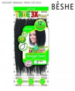 Beshe  Synthetic  Braid - CST.3X12 Crochet Senegal Twist Multi 12 3 Packs