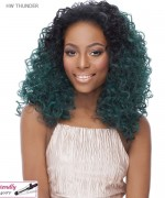 It's a wig Synthetic  Half Wig - HW THUNDER