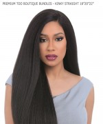 Sensationnel  Human Hair Blend Weave Extention - PREMIUM TOO BOUTIQUE BUNDLES - KINKY STRAIGHT 18