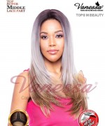 Vanessa TOPS M BEAUTY - Synthetic SUPER MIDDLE LACE PART Lace Front Wig