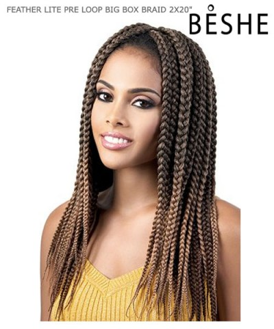 Beshe Synthetic Braid - C.BBOX220 Feather Lite Pre-Loop Big Box 20