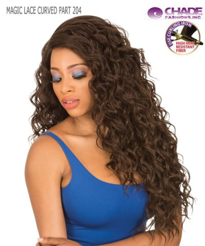 New Born Free Synthetic Lace Front Wig - MAGIC LACE CURVED PART MLC204