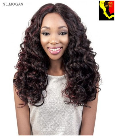 Motown Tress  SL.MOGAN - Synthetic HITEMP SWISS SILK Lace Front Wig