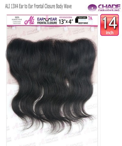 NEW BORN FREE Remi Human Hair Piece -ALI 13X4 Ear to Ear Frontal Closure Body Wave 14""