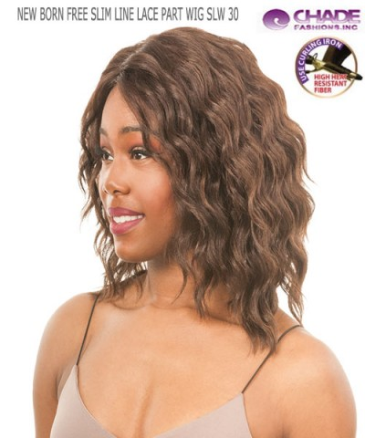 New Born Free Synthetic Lace Front Wig - SLIM LINE LACE PART WIG SLW30