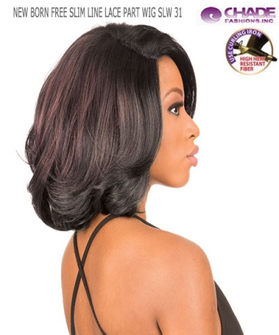 New Born Free Synthetic Lace Front Wig - SLIM LINE LACE PART WIG SLW31