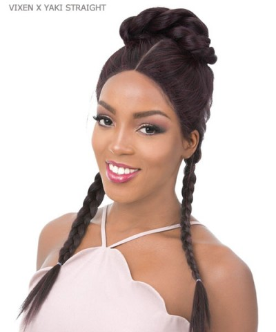 It's a wig Synthetic Hand-Tied Cross Lace Parting Wig - VIXEN X YAKI STRAIGHT