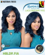 Motown Tress HBLDP.FIA - Human Hair Premium Mix Lace Deep Part Wig