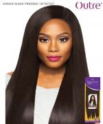 "Outre Human Hair Blend Weave Extension - Purpple Pack Brazilian Boutique-VIRGIN SLEEK PRESSED18""20""22"""