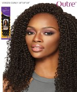 "Outre Human Hair Blend Weave Extension - Brazilian Boutique - VIRGIN CURLY 18""18""18"""