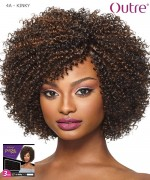 Outre Human Hair Blend Weave Extension - Purpple Pack 3PCS - 4A  KINKY