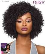 Outre Human Hair Blend Weave Extension - Purpple Pack 3PCS - 4C  COILY