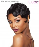 Outre Remi Human Hair Lace Front  Wig Velvet Lace Wig - FINGER WAVE