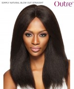 Outre Remi Human Hair SIMPLY 4x4 Lace Front Wig  - NATURAL BLOW OUT STRAIGHT